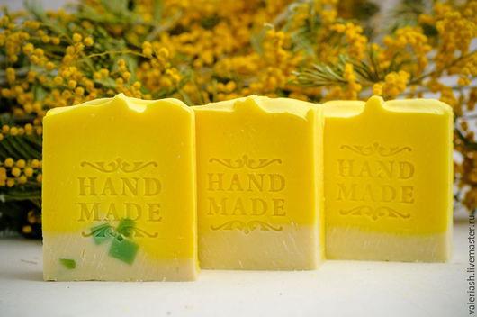 """Мыло ручной работы. Ярмарка Мастеров - ручная работа. Купить Натуральное мыло """"Лемонграсс и белая глина"""". Handmade. Желтый"""
