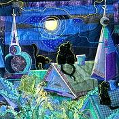 """Картины и панно ручной работы. Ярмарка Мастеров - ручная работа Панно """"Тайные свидания"""". Handmade."""