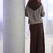 Одежда ручной работы. Ярмарка Мастеров - ручная работа Юбка Терракотовая шерсть. Handmade.