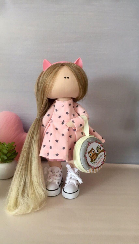 Куклы тыквоголовки ручной работы. Ярмарка Мастеров - ручная работа. Купить Текстильная кукла ручной работы. Handmade. Совушка