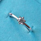 Украшения handmade. Livemaster - original item 18P gold diamond ring buy. Handmade.
