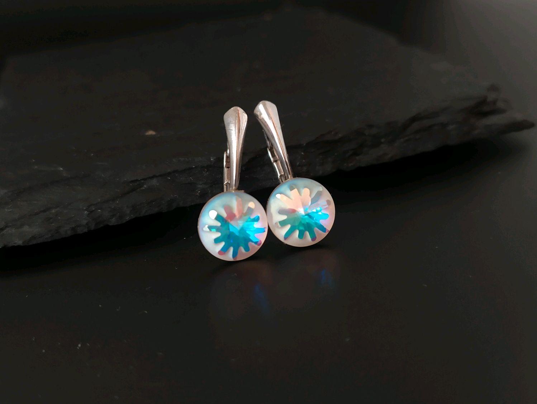 Swarovski crystal earrings Sea Urchin, Earrings, Moscow,  Фото №1