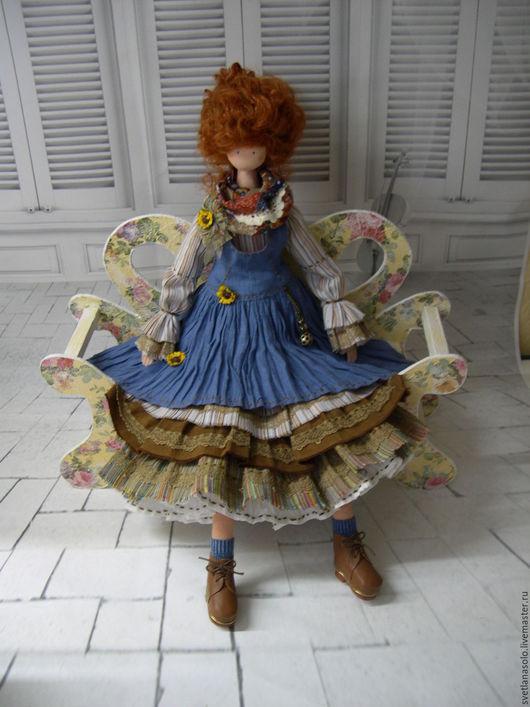 Коллекционные куклы ручной работы. Ярмарка Мастеров - ручная работа. Купить Кукла в стиле Бохо.  Алиса. Handmade. Синий, текстиль