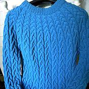 Одежда ручной работы. Ярмарка Мастеров - ручная работа Свитер мужской  с косами. Handmade.