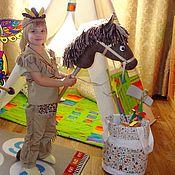 Работы для детей, handmade. Livemaster - original item Indian boy costume for home games. Handmade.