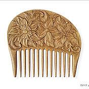 """Сувениры и подарки ручной работы. Ярмарка Мастеров - ручная работа Гребень для волос деревянный """"Цветение"""". Handmade."""