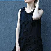 Одежда ручной работы. Ярмарка Мастеров - ручная работа Сарафан BOHO BLACK FLOWERS. Handmade.