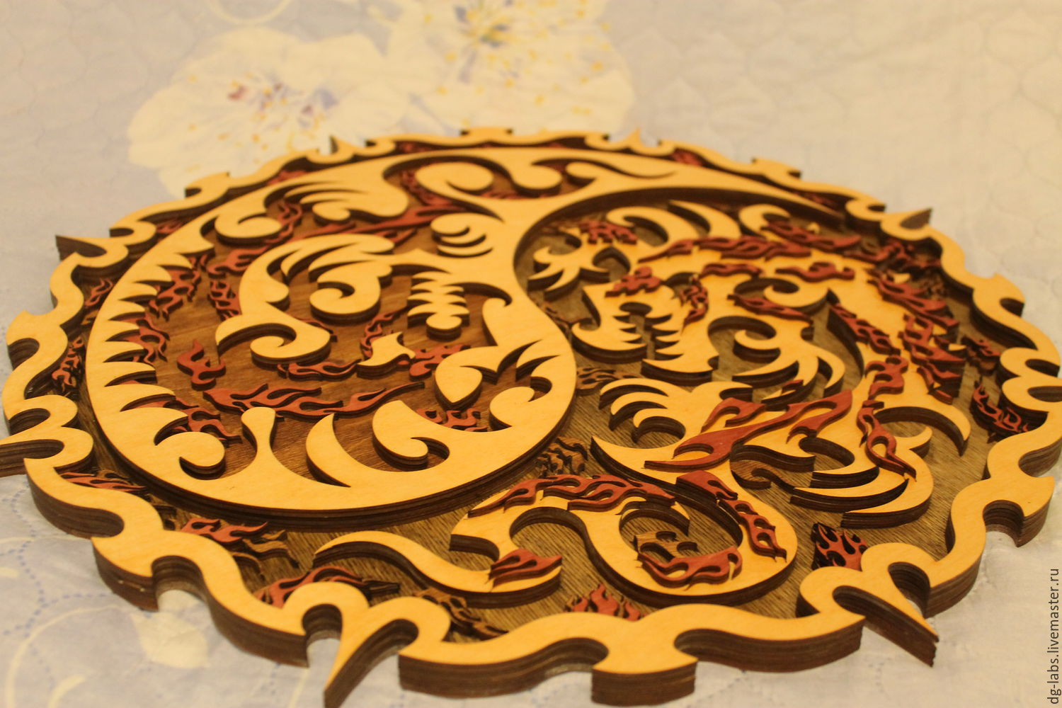 Panels Of Dragons Yin Yang Shop Online On Livemaster With Shipping