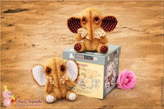 Мишки Тедди ручной работы. Ярмарка Мастеров - ручная работа. Купить Слоники. Handmade. Коричневый, подарок, паре, гранулят, шерсть