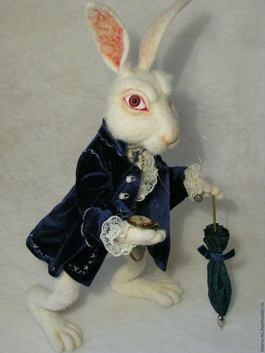 Сказочные персонажи ручной работы. Ярмарка Мастеров - ручная работа. Купить Белый Кролик Алисы. Handmade. Белый, мартовский заяц