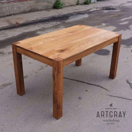Мебель ручной работы. Ярмарка Мастеров - ручная работа. Купить Обеденный стол из массива дуба. Handmade. Массив, дизайн