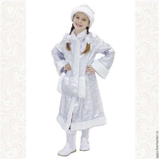 Карнавальные костюмы ручной работы. Ярмарка Мастеров - ручная работа. Купить Костюм Девочка-Снегурочка. Handmade. Белый, новогодний костюм