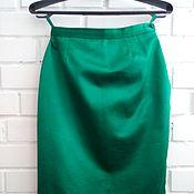 Винтаж ручной работы. Ярмарка Мастеров - ручная работа Винтажная юбка или кусок шикарного атласа для творчества. Handmade.