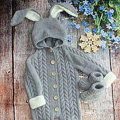 Одежда детская handmade. Livemaster - original item Knitted Bunny Romper. Handmade.