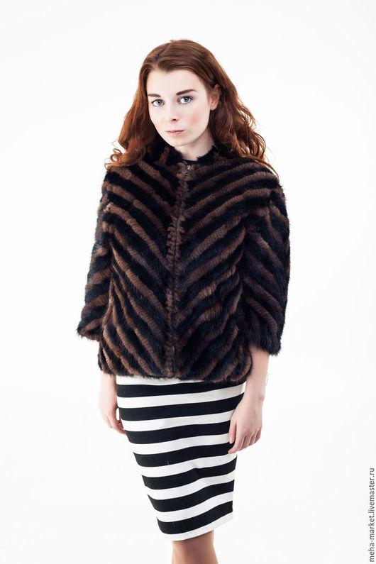 Куртка из вязаной норки `ВЕНЦЕСЛАВА`