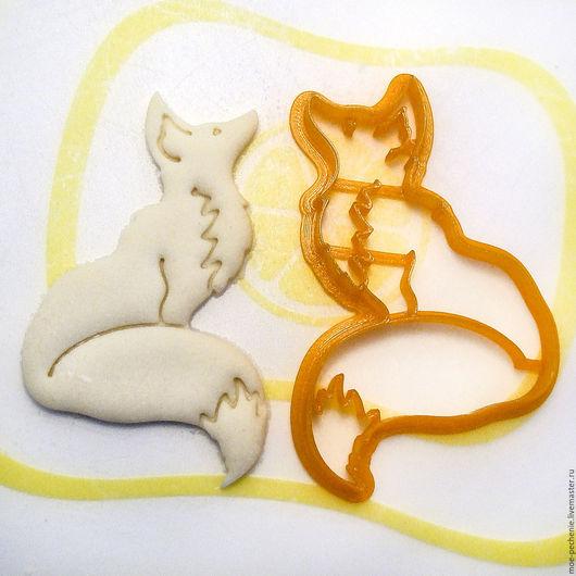 Лисичка. Вырубка-штамп для пряников, печенья, мастики, поделок из соленого теста. Образец вырубки из соленого теста.