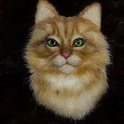 Брошь-булавка ручной работы. Ярмарка Мастеров - ручная работа Броши: Кошки. Handmade.