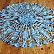 Для дома и интерьера ручной работы. Ярмарка Мастеров - ручная работа Мини-скатерть ажурная голубая. Handmade.