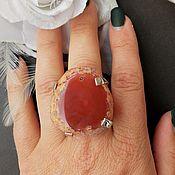 Украшения handmade. Livemaster - original item Brown Agate Ring. Handmade.