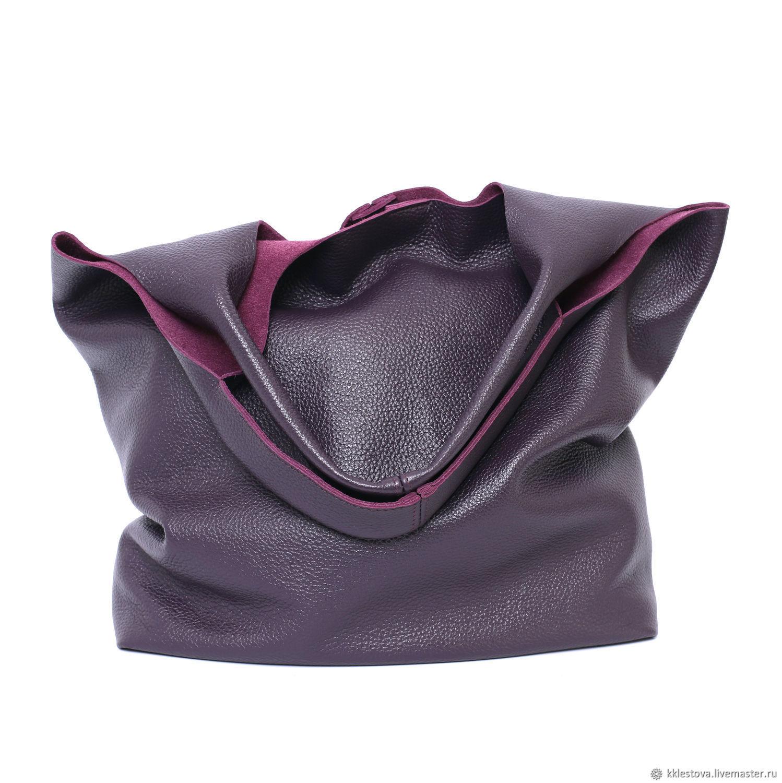 Bag Leather Bag Bag Shopping Bag Shopper T Shirt Medium Purple, Sacks, Moscow,  Фото №1