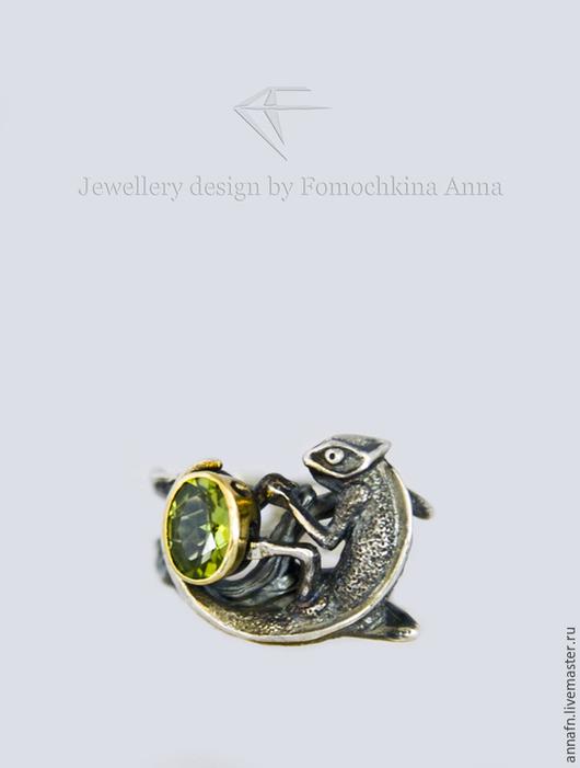 """Кольца ручной работы. Ярмарка Мастеров - ручная работа. Купить Кольцо """"Эмоциональный интеллект""""(хамелеон). Handmade. Хамелеон, саламандра"""