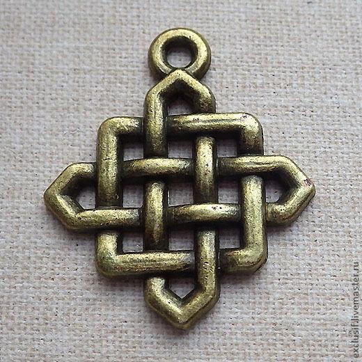 Для украшений ручной работы. Ярмарка Мастеров - ручная работа. Купить Подвеска кельтский узел 2 (цвет - античная бронза). Handmade.