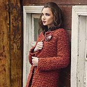"""Одежда ручной работы. Ярмарка Мастеров - ручная работа Пальто и брошь """"Терракота"""". Handmade."""