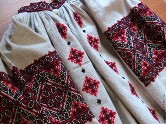 Этническая одежда ручной работы. Ярмарка Мастеров - ручная работа. Купить вышиванка женская. Handmade. Ярко-красный, натуральные материалы