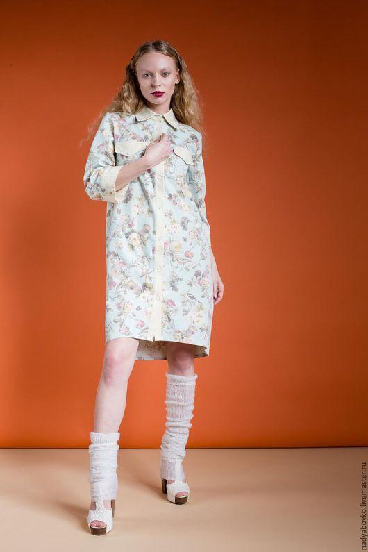 """Платья ручной работы. Ярмарка Мастеров - ручная работа. Купить платье-рубашка """"Love"""". Handmade. Комбинированный, платье дизайнерское"""