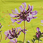 Материалы для творчества handmade. Livemaster - original item Napkins for decoupage flowers asters peonies print. Handmade.