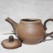 Посуда ручной работы. Ярмарка Мастеров - ручная работа Чайник Дубовые листья. Handmade.