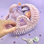 Куклы и игрушки handmade. Livemaster - original item knitted baby carrier for dolls.. Handmade.