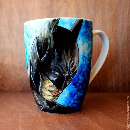 """Кружки и чашки ручной работы. Ярмарка Мастеров - ручная работа. Купить Кружка """"Бэтмен"""" (0771). Handmade. Комбинированный, dc comics"""