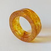 handmade. Livemaster - original item Amber ring