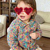 Одежда детская handmade. Livemaster - original item Alpaca Jacket Classic rainbow. Handmade.