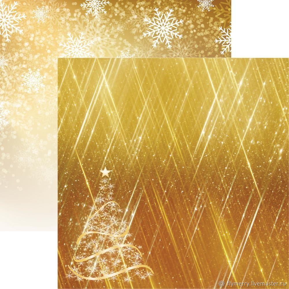 Лист двусторонней бумаги Reminisce - Золотое Рождество, Бумага, Москва,  Фото №1