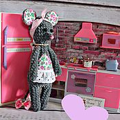 Куклы и игрушки ручной работы. Ярмарка Мастеров - ручная работа Мышка-Хозяюшка. Handmade.