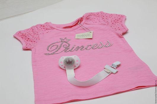 Одежда для девочек, ручной работы. Ярмарка Мастеров - ручная работа. Купить Футболка Принцесса. Handmade. Розовый, футболка со стразами