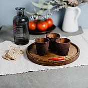 Посуда handmade. Livemaster - original item Set of Wooden wine Glasses (3#9. Handmade.