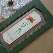 Картины и панно handmade. Livemaster - original item Green wall mural