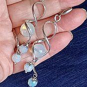 Украшения handmade. Livemaster - original item Moonstone Earrings (Opalite) Silver. Handmade.