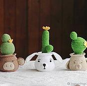 Для дома и интерьера handmade. Livemaster - original item Cacti in pots 3 PCs. Handmade.