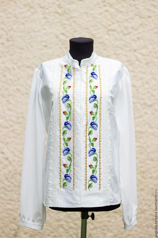 """Блузки ручной работы. Ярмарка Мастеров - ручная работа. Купить Блуза женская """"Вьюнок"""", вышиванка. Handmade. Бисер чешский"""