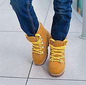 Работы для детей, ручной работы. Ярмарка Мастеров - ручная работа Валяные ботинки детские Солнечное настроение. Handmade.