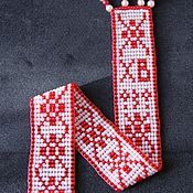 Подарки к праздникам handmade. Livemaster - original item Bookmark beaded Easter