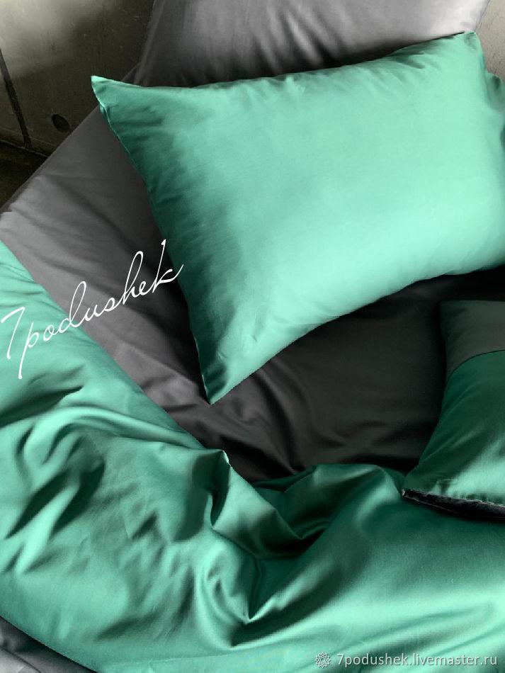 Изумрудный сатин люкс 100% хлопок ЭКО, Подзоры и юбки для кровати, Москва,  Фото №1