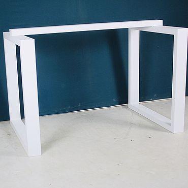 Мебель ручной работы. Ярмарка Мастеров - ручная работа Подстолье №1 белое. Handmade.