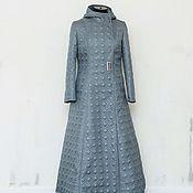 Одежда handmade. Livemaster - original item Demi-season coat, hooded Grey sky. Handmade.