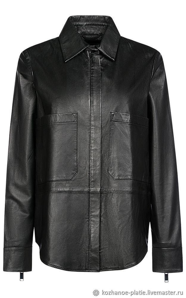 e2481d565c0126c Купить Кожаная рубашка из Брюки, шорты ручной работы. Кожаная рубашка из  натуральной кожи. Ателье Кожаной Моды.