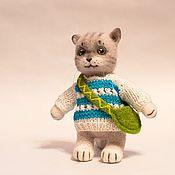 Куклы и игрушки ручной работы. Ярмарка Мастеров - ручная работа Валяный котик. Handmade.